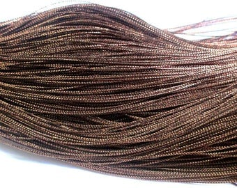 100 m Brown wire braided 0.8 mm