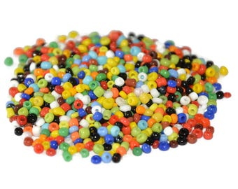 10gr multicolor 2mm approximately 800 beads (ref32) glass seed beads