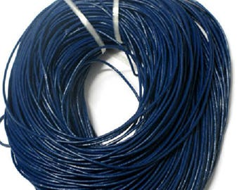 1 meter blue 2mm leather cord
