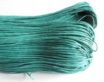 5 meters of thread waxed cotton emerald green 1 mm