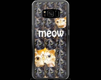 Meow Case for Phone Samsung and Iphone