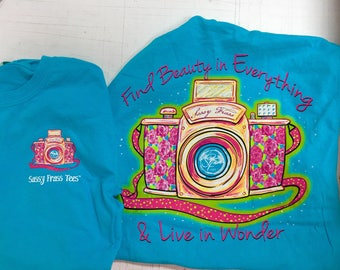 Sassy Frass find beauty comfor color tee shirt NEW!