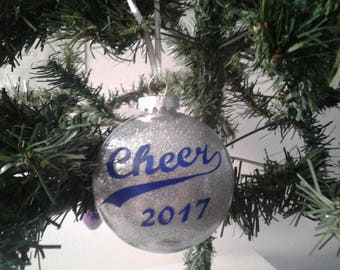 cheer 2017 glitter ornament