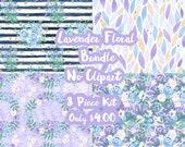 Lavender Floral Mystery Bundle 8 Sheets Planner Sticker-Erin Condren Sticker-Happy Planner Stickers-Floral Stickers