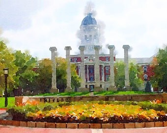 Digital Prints: University of Missouri- Columns and Jesse Hall
