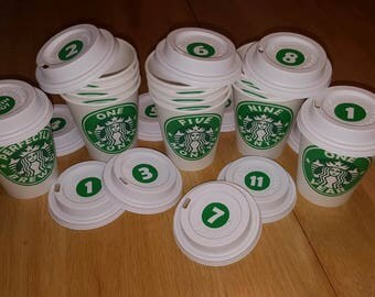 First Year MONTHLY coffee cups - photo prop