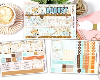 August Monthly View Stickers • Erin Condren Life Planner