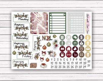 NEW FORMAT || Christmas Magic || add-on stickers Erin Condren planner vertical layout