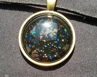 Rainbow Flakie Necklace