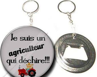 Keychain bottle opener I'm a farmer who rocks