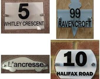 modern door sign, house number sign, house sign, address sign,