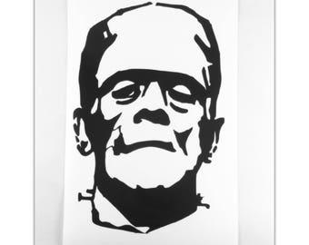 Frankensteins' Monster Vinyl Decal, Frankenstein Decal, Frankenstein, Car Decal, Vinyl Decal, Vinyl Sticker, Laptop Decal, Yeti Decal, Decal