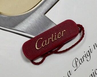 Tag Card original CARTIER New
