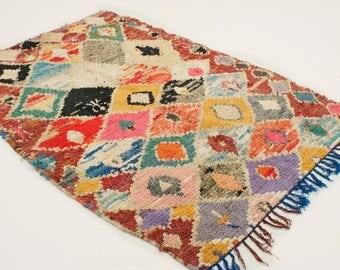 SALE 30% OFF Boucherouite rug - C4 - (6.3 x 4.4 ft)