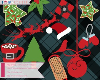 Christmas Design Bundle 2 - SVG, PNG and DXF Files for Printing and Cutting