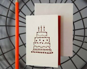 Birthday Cake Card by VINTAGE PLAYING CARDS