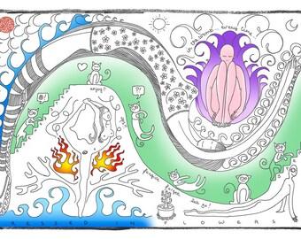 Wve after Wave - Cute Adult Coloring Meditation