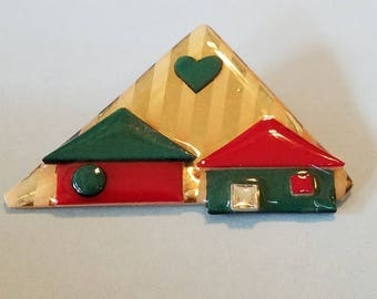 Vintage House Pins by Lucinda, House Pin by Lucinda, House Pins, by Lucinda, Jewelry by Lucinda
