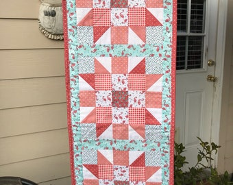 Quilted Flamingo Table Runner