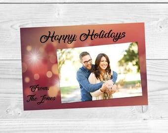 Happy Holidays, Christmas Card, Holiday Card, Card, Digital Download, Christmas Card Digital Download