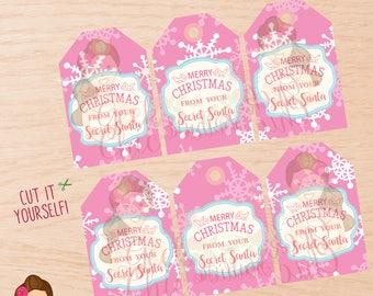 Secret Santa, Secret Santa tags, Secret Santa printable tags, Secret Santa party, Secret Santa game, Christmas tags, Christmas party.