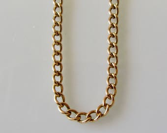 Heavy 9ct Rose Gold Chain Necklace 20 1/2 inches