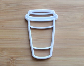Coffee To Go Cup  3D Printed Cookie Cutter