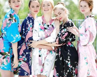 Silk Bridal Robes // Bridesmaid Robes // Set of Robes // Bridal Robes // Bride Robe // Bridal Party Robes // Bridesmaid Gifts // Satin Robes