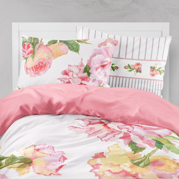 Shabby Chic Teen Bedroom: Queen Duvet Cover Shabby Chic Bedding Girls Bedding Teen