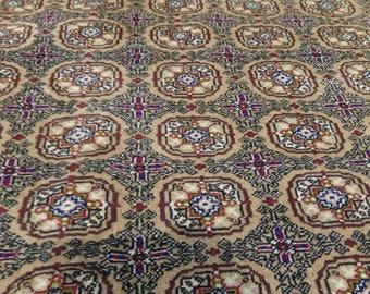 "Rare Natural Dyes Cr1960-1980s Vintage 6'7""x9'9"" Wool Pile Turkish Hereke Rug"