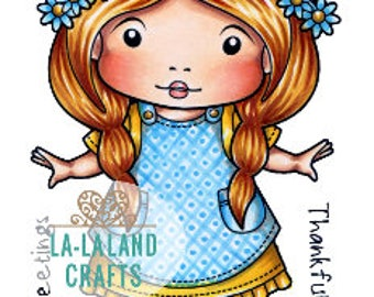 Lala Land On the Farm Marci Rubber Stamp