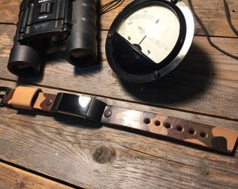 Fitbit Charge 2 Leather Strap Band Camouflage Men or Women
