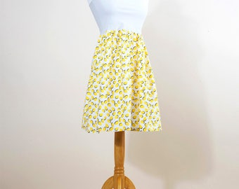 Skirt-yellow polka dots Dress
