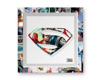 Superman Birthday Dc Comics Art Print Gift Idea Birthday Present Wall Art Home Decor Print Super Hero Theme Comic Book Framed Comic