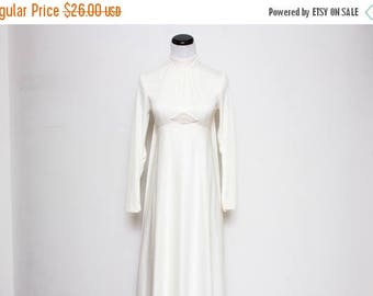 25% OFF VTG 60s Mod White Beaded Empire Wedding Gown XS