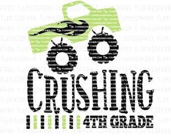 4th grade svg, 4th grade dxf files, fourth grade svg, 4th grade boy svg, boy 4th grade svg, back to school boy svg, dump truck