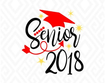 Senior 2018; SVG, DXF, EPS, Ai, Pdf, Jpeg, Png: Cutting Files for Electronic Cutting Machines