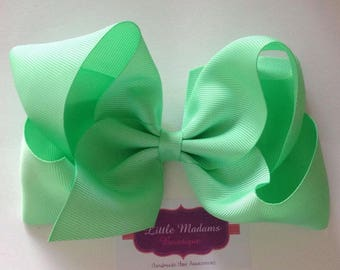 6 inch Mint green Boutique bow