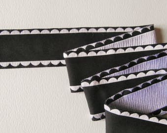 Black and white woven Ribbon synthetic (ref 876 66 51)