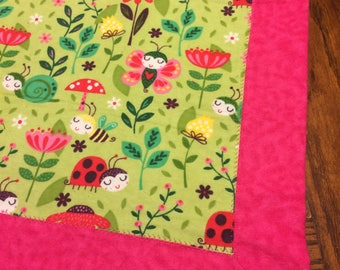 Little Lady Bug Recieving Blanket