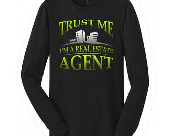 Real Estate Agent long sleeve sweater.