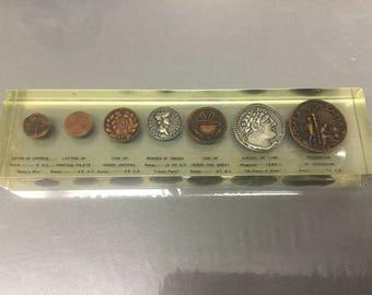 Biblical replica coin paper weight
