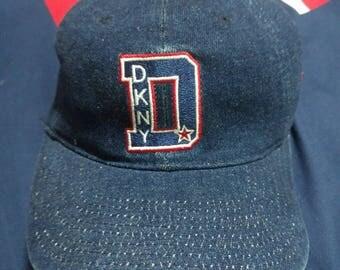vintage 90s DKNY donna karen newyork denim flexfits cap hat
