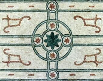 Simple Flower Design Carpet Marble Mosaic CR264