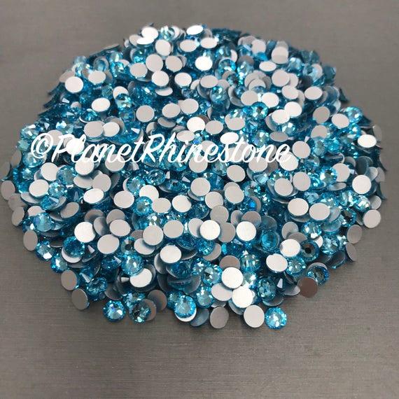 Aquamarine / 10 Gross / SS20 / Flat back / Egyptian Crystals