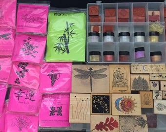 Stamps & Embossing Powder De-Stash Sale
