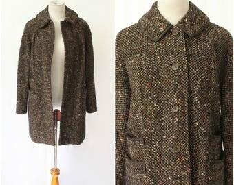 Vintage tweed coat | Etsy