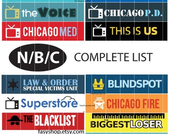 N/B/C TV Stickers Full Seasons  2017-2018 Schedule - TV Shows Sticker Planner