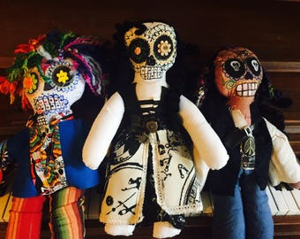 Sugar Skull Dolls any Color combos or Ethnic design