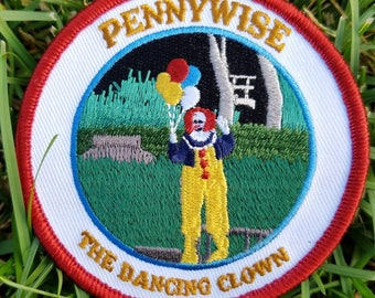 "Pennywise the Dancing Clown - IT Tribute - 3"" Circle Embroidered Patch"